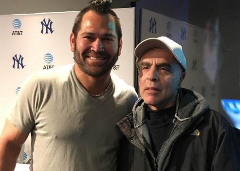 Steven Bort with Johnny Damon